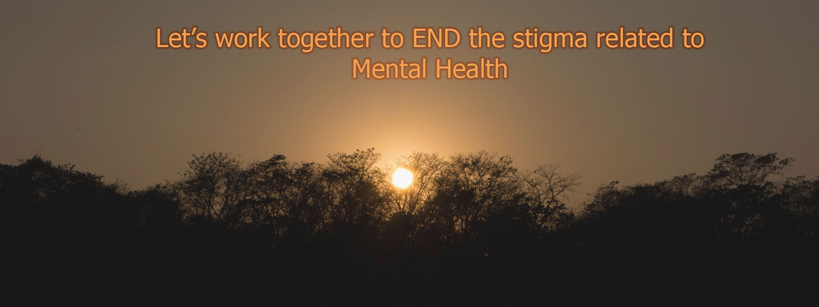 Let's work together to END the stigma related to Mental Health